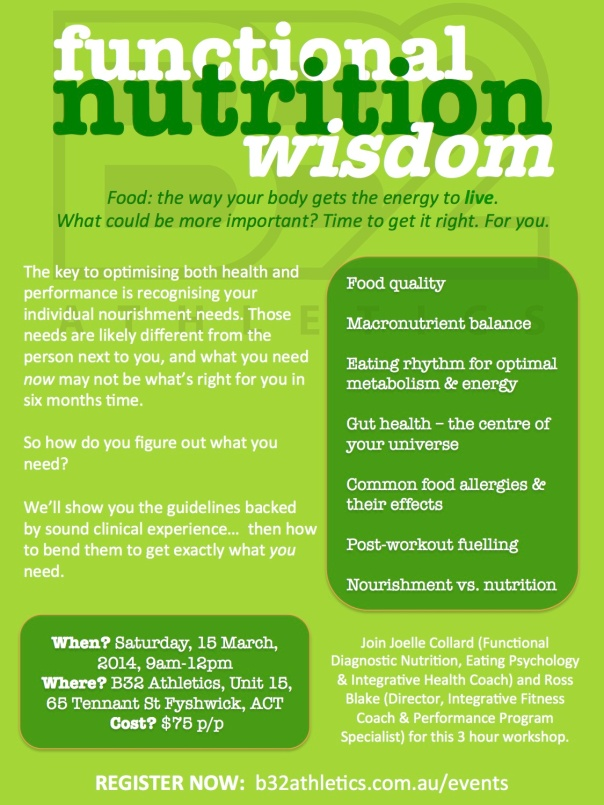 Functional Nutrition Wisdom 2014 Flyer