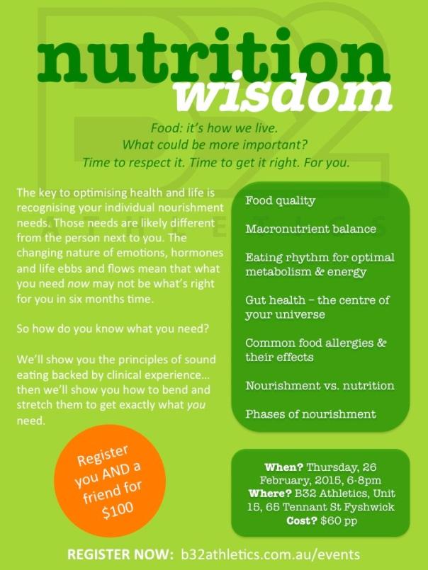 Nutrition Wisdom 2015